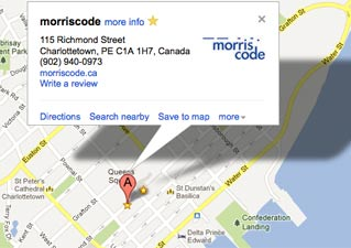 PEI Web Design firm morriscode office
